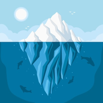 Eisbergillustration im ozean