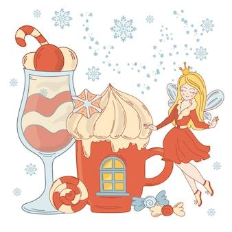 Eiscreme fairy weihnachten