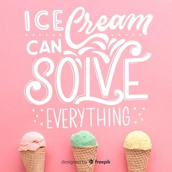 Eiscreme kann alles lösen