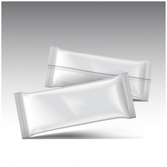 Eiscreme-packung, weiße leere plastikbeutel-snackpackung