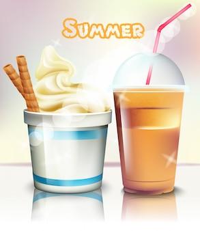 Eiscreme und frappe