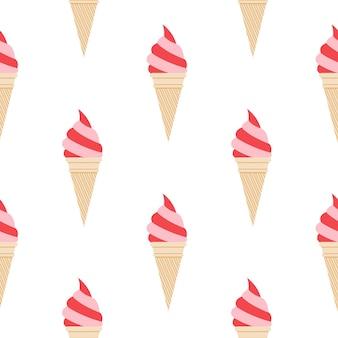 Eiscrememuster, bunter sommerhintergrund. elegante und luxuriöse stilillustration