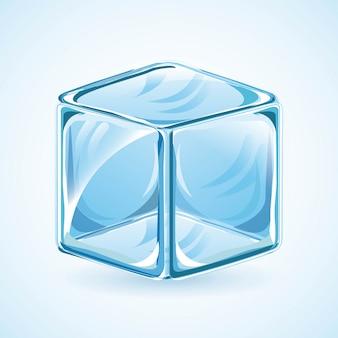 Eisdesign über blauer hintergrundvektorillustration