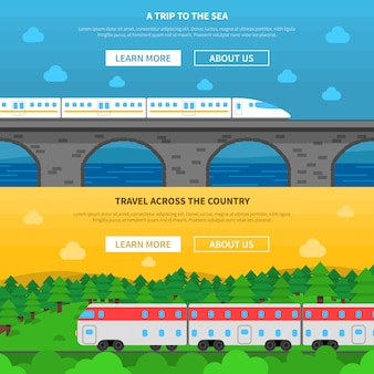 Eisenbahn-banner-set