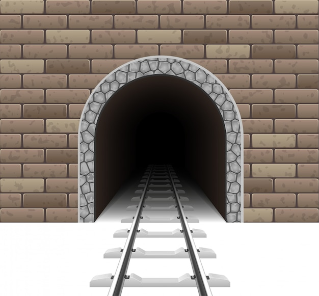 Eisenbahntunnel vektor-illustration