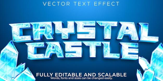 Eisgefrorener texteffekt, bearbeitbarer kalt- und frosttextstil