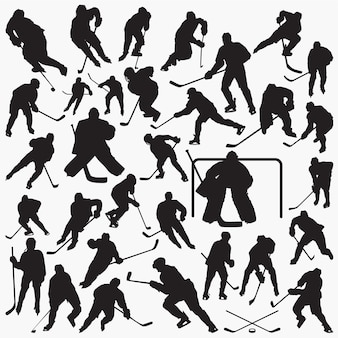 Eishockey silhouetten