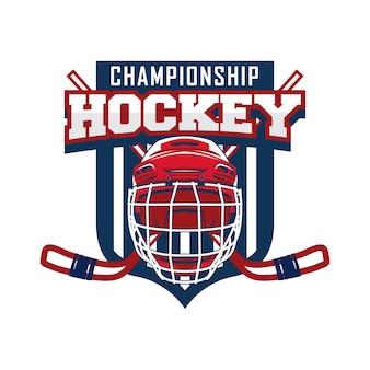 Eishockey-sportturnier-logo-abzeichen