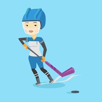 Eishockeyspieler-vektorillustration.