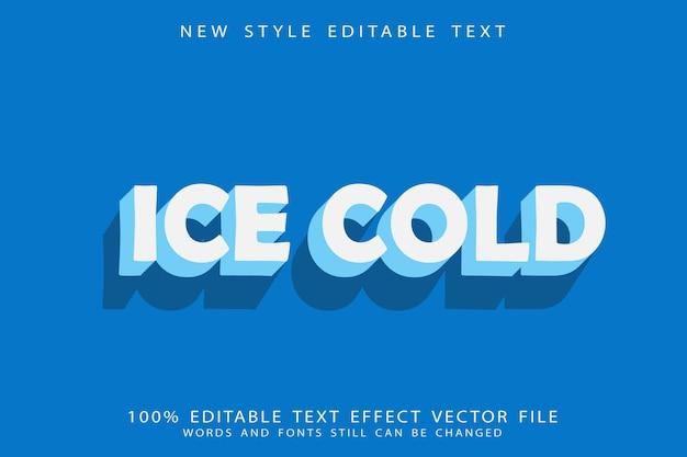 Eiskalter bearbeitbarer texteffekt prägen cartoon-stil