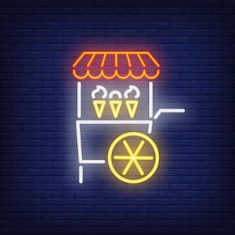 Eiswagen-leuchtreklame