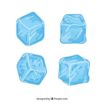 Eiswürfel sammlung mit flachen deisgn