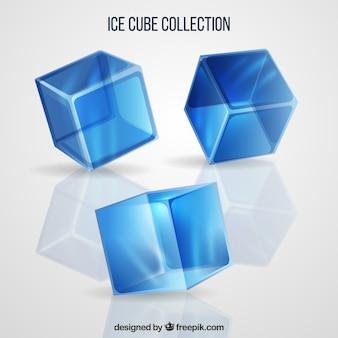 Eiswürfel sammlung mit realistischen stil