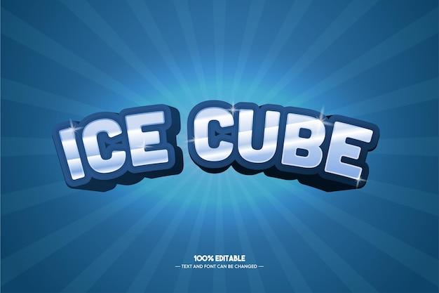 Eiswürfel-textstil für spieltitelplakat Premium Vektoren