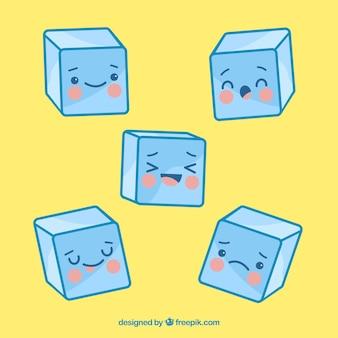Eiswürfel-Kollektion mit 2D-Design