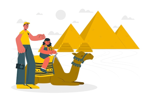 El cairo konzept illustration