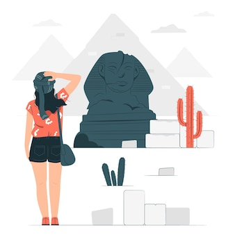 El cairo konzept illustration