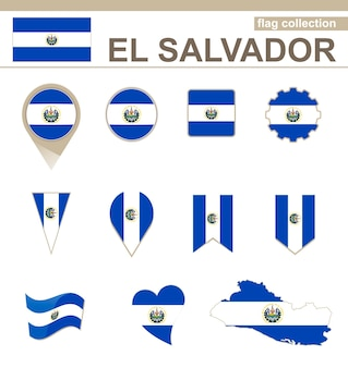 El salvador flag collection, 12 versionen