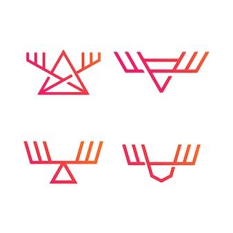 Elch-logos festgelegt
