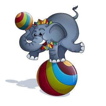 Elefant am ball.