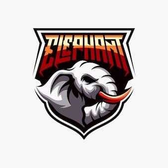 Elefant esports zeichenvektor