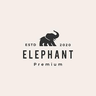 Elefant hipster vintage logo symbol illustration