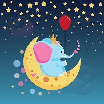 Elefant liebt ballon