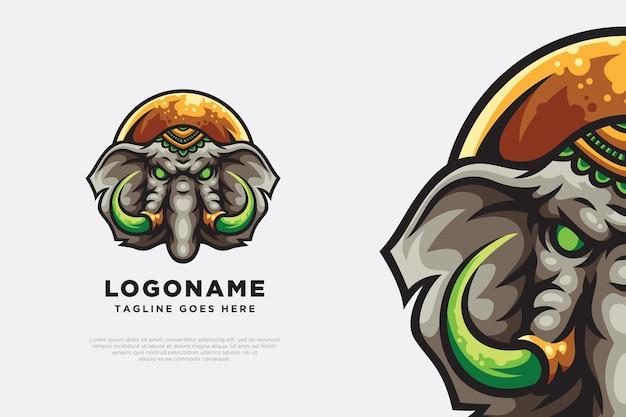 Elefant logo maskottchen illustration design