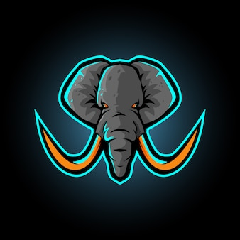 Elefant-maskottchen-logo