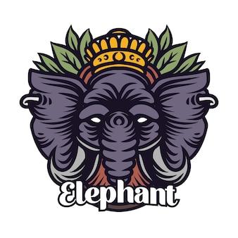Elefant mit kronendetailabbildung