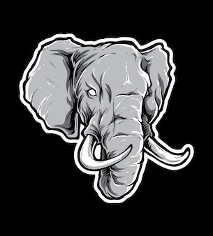 Elefant-vektor-kopf