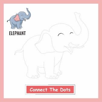 Elefant verbinden sie das dots book arbeitsblatt