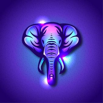 Elefanten-maskottchen-logo