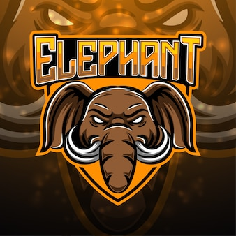 Elefanten sport maskottchen logo design