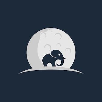 Elefanten- und mondlogo
