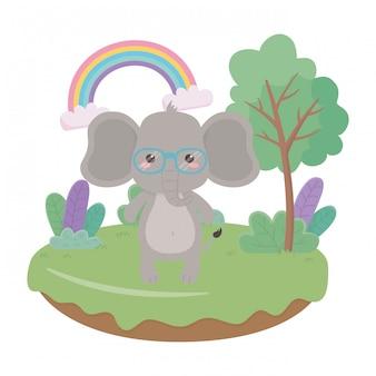 Elefantenkarikatur-vektorillustrator