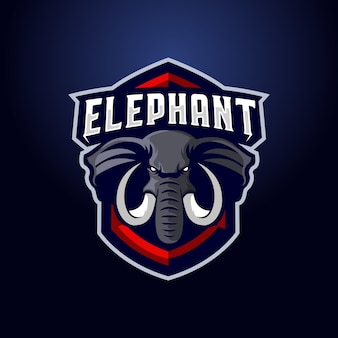 Elefantenmaskottchen-logo
