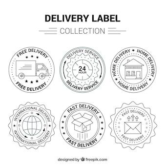 Elegan pack von vintage lieferung etiketten