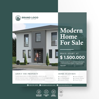 Elegant modern home immobilien sozialmedien post template property