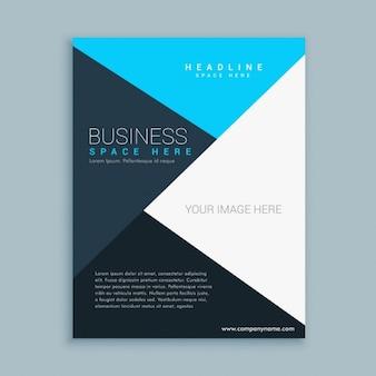 Elegant sauberes geschäft broschüre flyer vorlage