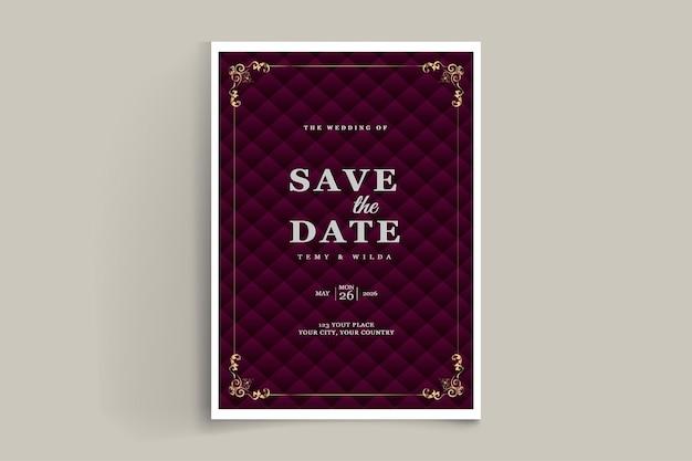 Elegant speichern sie die datumseinladungskarte