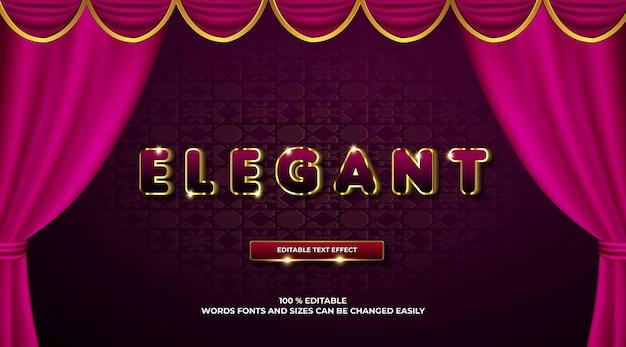 Elegante 3d-vorlage mit texteffekt
