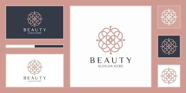 Elegante abstrakte blumen, die schönheit, yoga und spa inspirieren