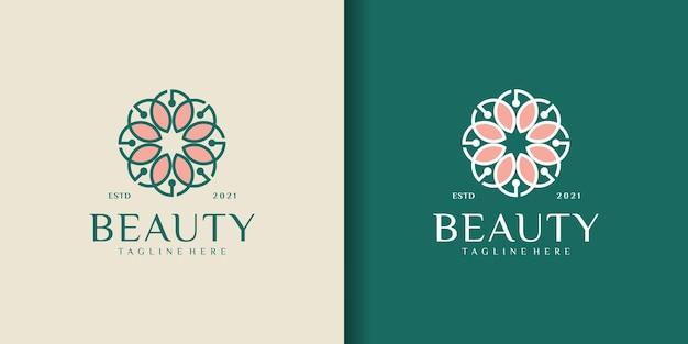 Elegante abstrakte boutique, die schönheit inspiriert