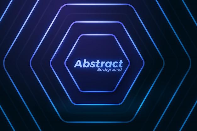 Elegante abstrakte helle neonlinienhintergrund