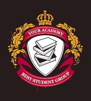 Elegante akademie-abzeichen