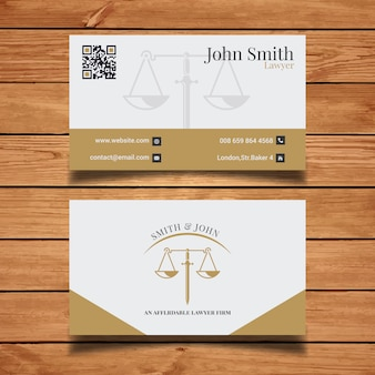 Elegante anwalt visitenkarte