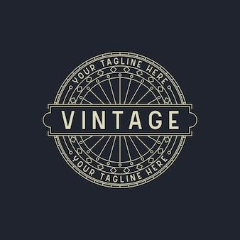 Elegante art deco vintage logo design vorlage