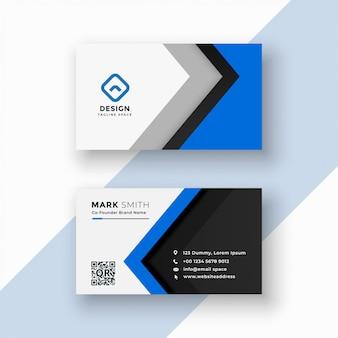 Elegante berufliche blaue visitenkarte