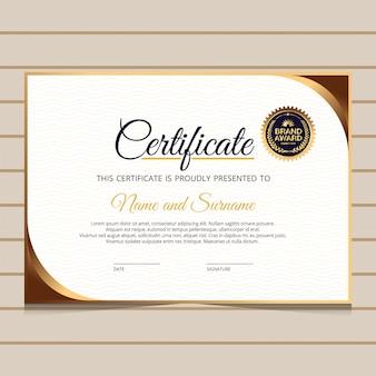 Elegante blau- und golddiplom-zertifikatschablone